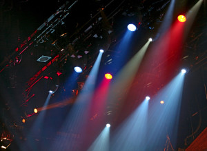 Blue and Red Stage Lights